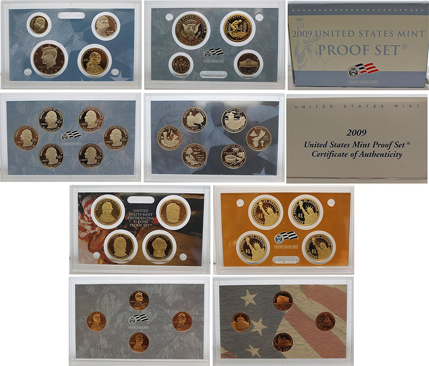 2009 S U.S. Mint Proof Set - 18 Coins - OGP Superb Gem Uncirculated