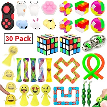 Fidget Toys Set Fidget Sensory Tools for ADHD ADD Anxiety Autism 29 Pcs Sensory Toys Bundle for Stress Relief for Kids and Adults