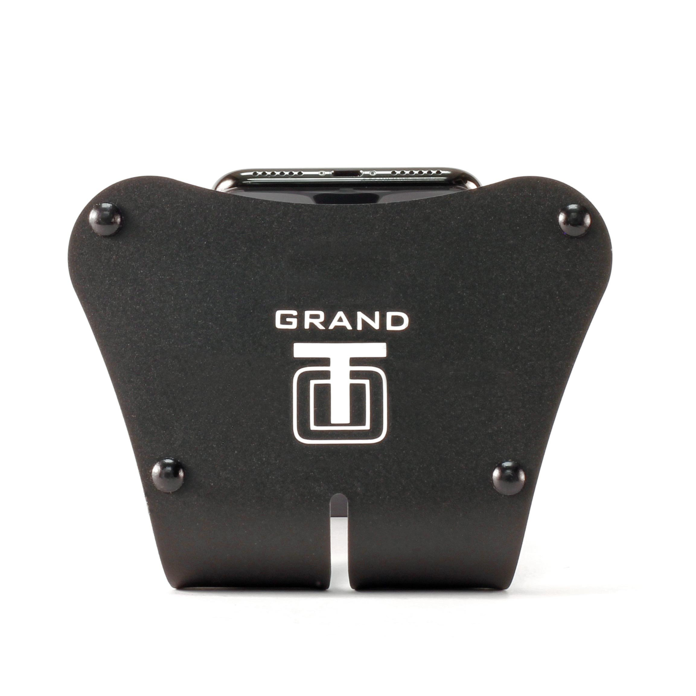 Thought Out PED5-GRAND-H Stand Rotate Holder Made in USA Compatible with Apple iPhone Xs, Xs Max, Xr (X, 8, 7, 6s, 6, SE, 5s, 5c, 5, All Plus Sizes and Handheld Devices from 2.3 to 3.5 inches Wide) by Thought Out