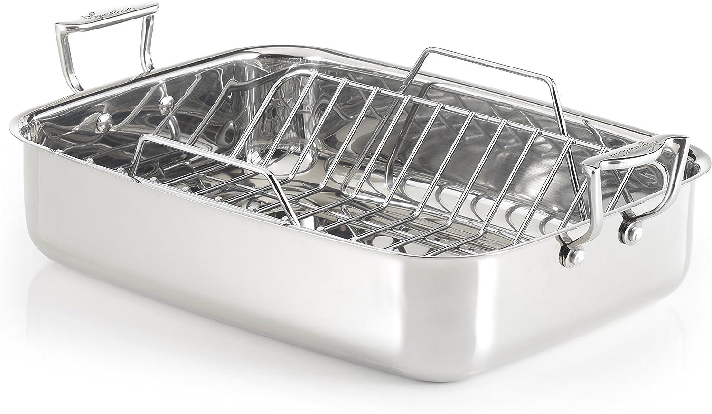 "Lagostina Rectangular Roaster, 16"", Silver: Kitchen & Dining"