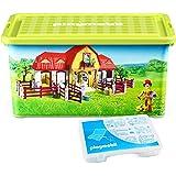 Playmobil - 064663 - Ameublement Et Décoration - Boîte De Rangement + Boîte Compartiments - Ferme