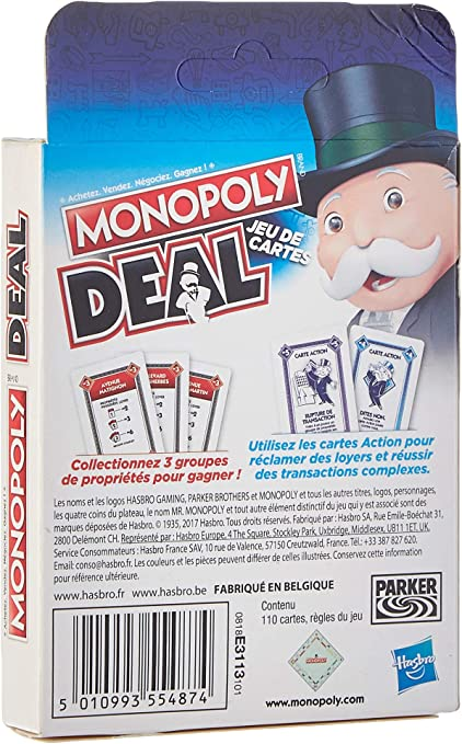 MONOPOLY - Deal - Travel Game, Versi�n en franc�s: Amazon.es: Juguetes y juegos