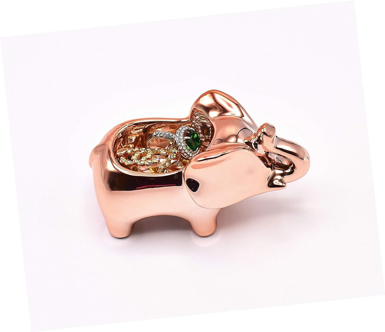 Ketten Form Einer Elefant Ohrringen Uhren Armb/änder ROSA/&ROSE Ringhalter Schmuckhalter f/ür Ringe Aus Keramik hergestellt