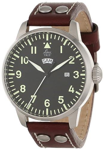 Laco / 1925 861807 - Reloj Analógico clásico de piloto, para Hombre: Laco: Amazon.es: Relojes