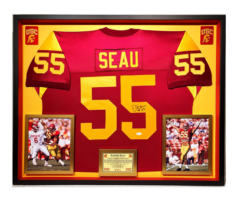 quality design d2672 f1b18 Premium Framed Junior Seau Autographed/Signed USC Trojans ...