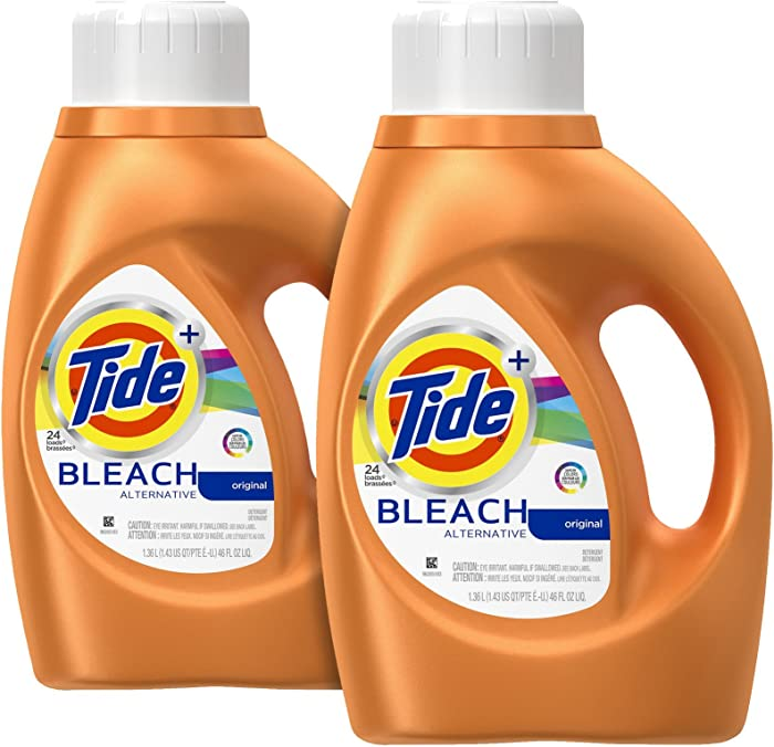 Tide Plus Bleach Alternative Liquid Laundry Detergent - 46 oz - Original - 2 pk