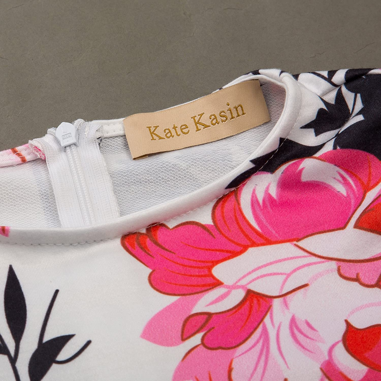Kate Kasin Weich Aermellos Retro Maedchen Kleid
