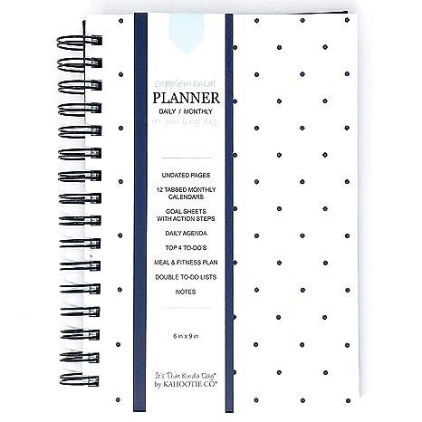 Amazon.com: Planificador diario sin fechas para días ...