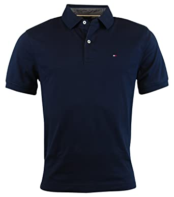 1584b6ab4f5 Tommy Hilfiger Mens Classic Fit Knit Cotton Polo Shirt at Amazon Men s  Clothing store