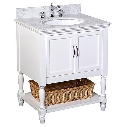 kitchen bath collection kbc00530wtcarr beverly bathroom vanity