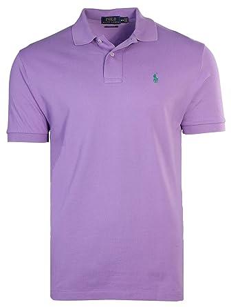 Polo Ralph Lauren Classic Fit Mesh Polo Shirt-Charter Purple-Small