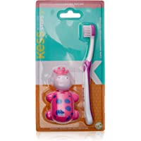 Escova Dental Steps com Capa Protetora, Kess, Azul/Rosa