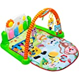 Baby Play Mat Activity Gym - Kick and Play Newborn Toy with Piano for Baby 1 - 36 Month, Lay and Play, Sit and Play, Activity Toys, Mirror and Piano by Tapiona Happy Family