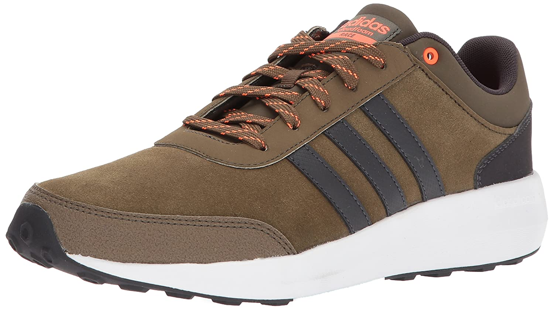 adidas Men's Cf Race Running Shoe B01N2OT5PN 7.5 D(M) US Trace Olive/Utility Black/Solar Orange