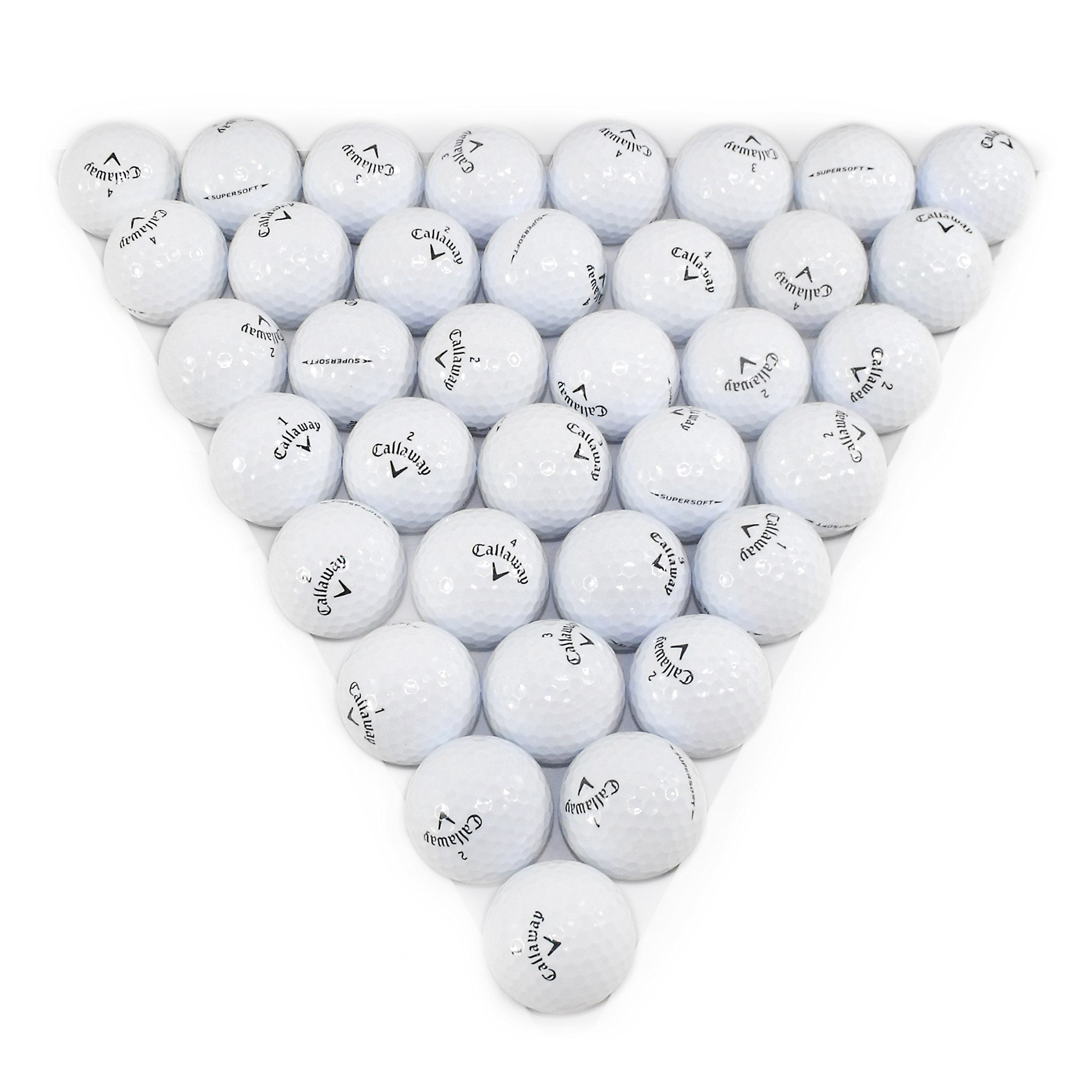 Callaway Supersoft White 36 Pack Golf Balls Mint Condition ()