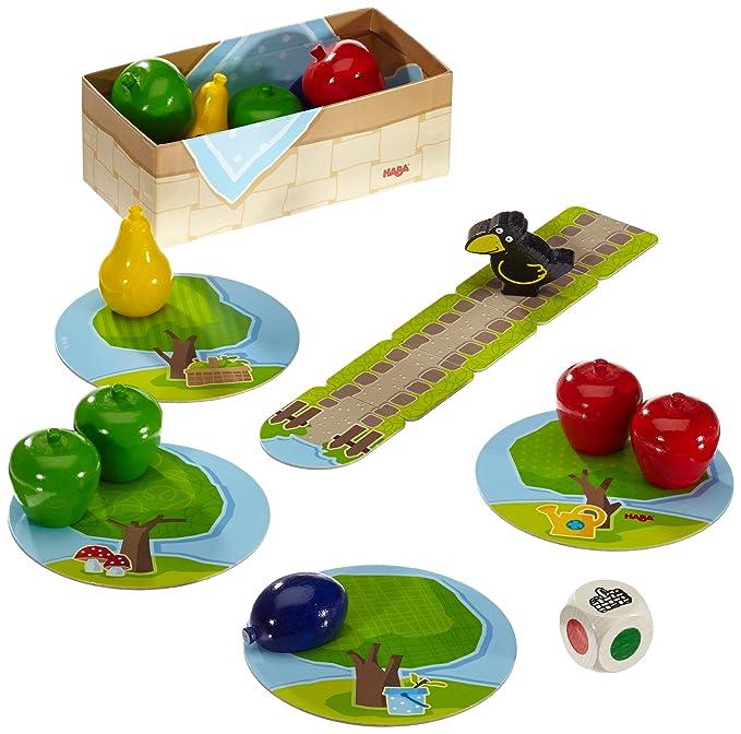 Haba 4655 - Meine ersten Spiele Erster Obstgarten, Unterhaltsames Brettspiel rund um Farben und Formen ab 2 Jahren, Holzspielzeug und Lernspiel, Der ...