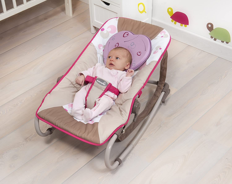 Babymoov Lovenest - Cojín de tejido transpirable para bebés, color morado