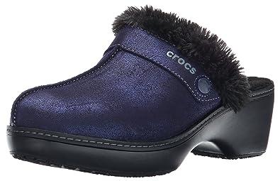 8370ece4adf7d0 crocs Women s Cobbler Shimmer Leather Mule