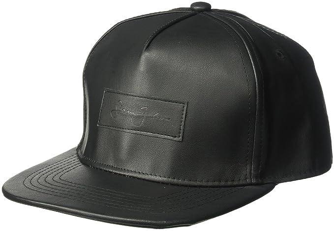 447907a8553 Sean John Men s Textured Pebble PU Baseball Cap with Patch