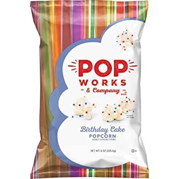 Image Unavailable Not Available For Color Pop Works Company Birthday Cake Flavored Popcorn