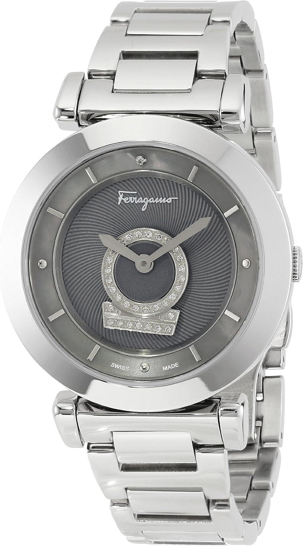 Salvatore Ferragamo Women's FQ4070013 Minuetto Diamond-Accented Stainless Steel Watch