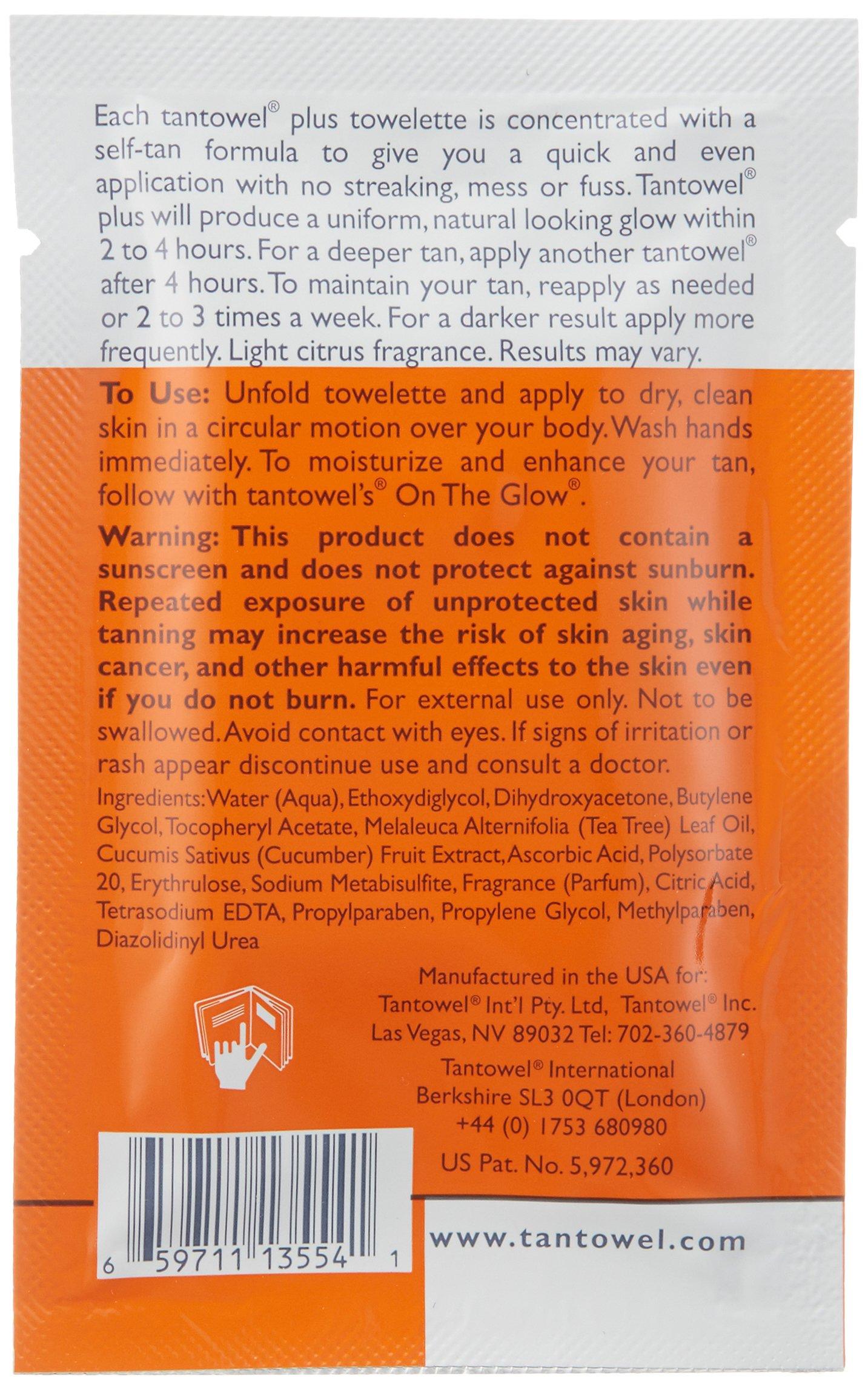 Tan Towel Self Tan Towelette Plus, 50 Count by Tan Towel (Image #4)