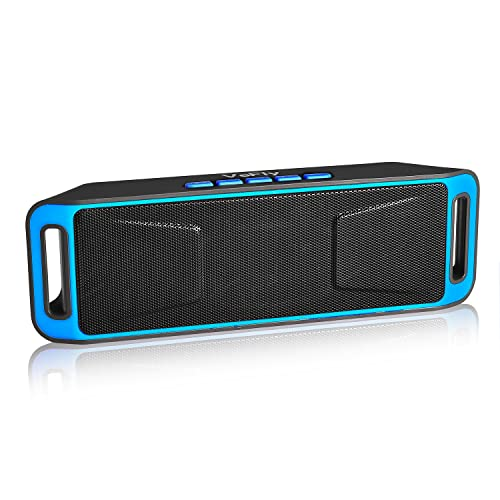 VeFly Wireless Speakers, Portable 4.2 Bluetooth Speaker Stereo with Extra Bass Boost HD Audio Dual Driver, Hands Free Mic, FM Radio, Dock Station TF Card USB for Phones Laptops PC Computer Car HiFi