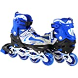 Adjustable Inline Skates for Kids With Illuminating Front Wheels Durable Comfortable Rollerblades Outdoors