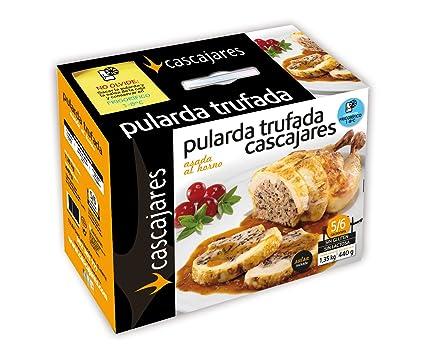 CASCAJARES - Pularda trufada asada al horno (producto precocinado). Pularda de 1.2 kilos acompañada por medio litro de salsa de Setas, para 5-6 ...