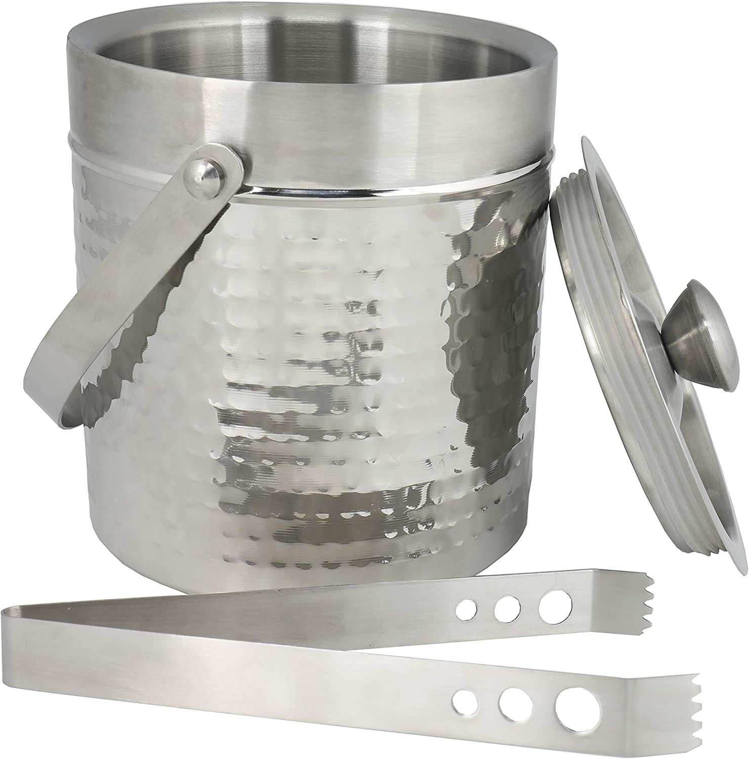 Chef Craft Hammered Double Walled Ice low-pricing Bucket OFFicial site 2 Steel Stainless