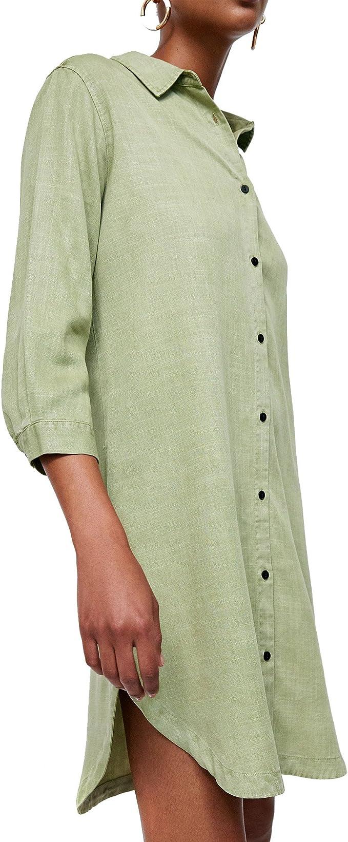 Zara - Camisas - para Mujer Verde L: Amazon.es: Ropa