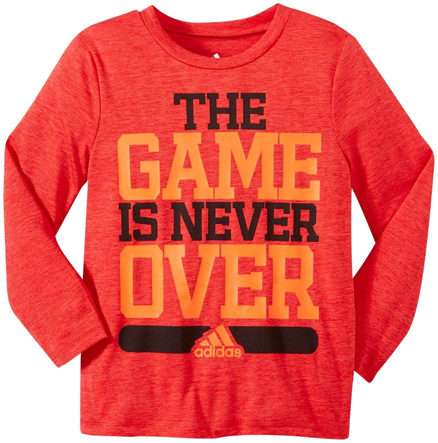 purchase cheap cf438 d6334 Amazon.com  adidas Little Boys Never Over Tee (Toddler Kid) - Bright Red -  4T  Clothing