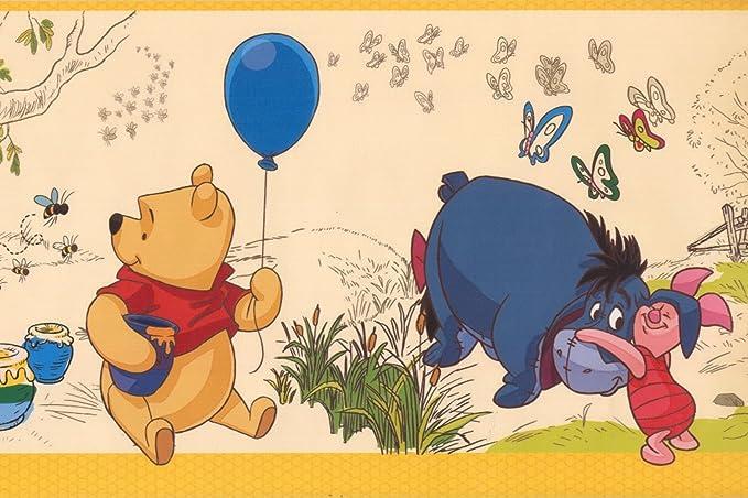 Magical Kingdom Beige Blue Winnie The Pooh Galerie Wallpaper Border WP3521-1