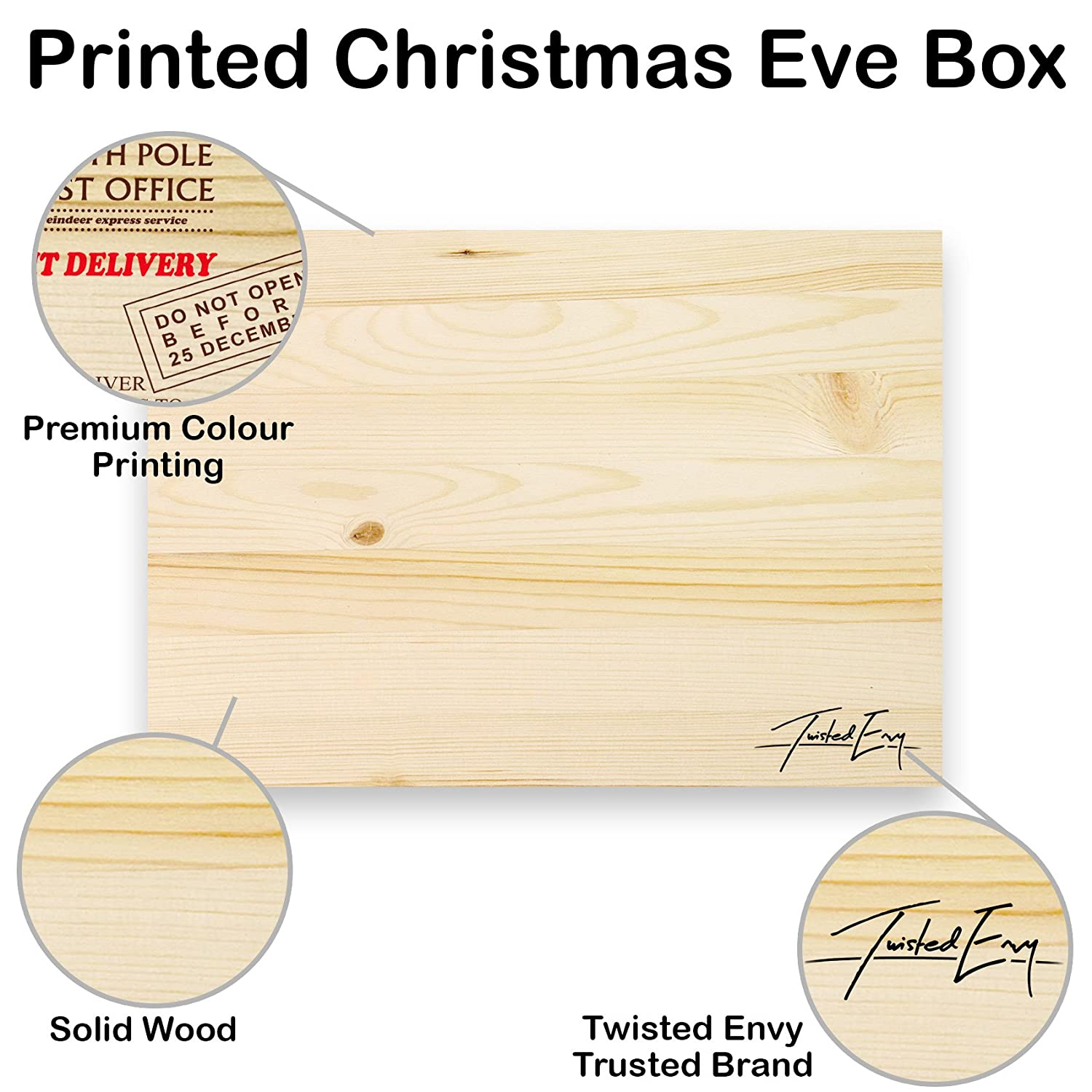 TWISTED ENVY Personalised North Pole Post Office Large Rustic ...