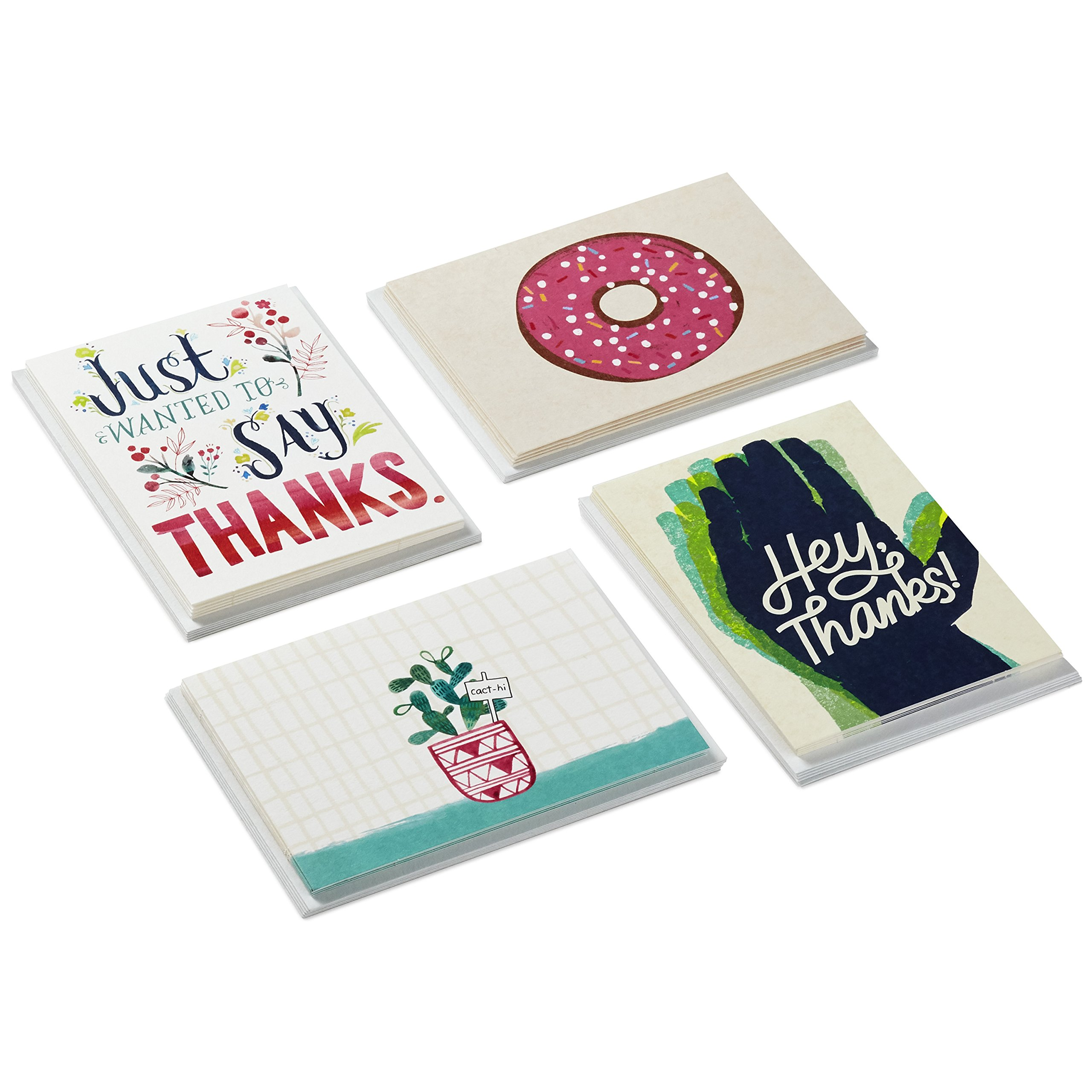 Studio Ink Assorted Thank You and Blank Card Set, 20 Cards with Envelopes (5 ct. of 4 Designs, Blank Inside)