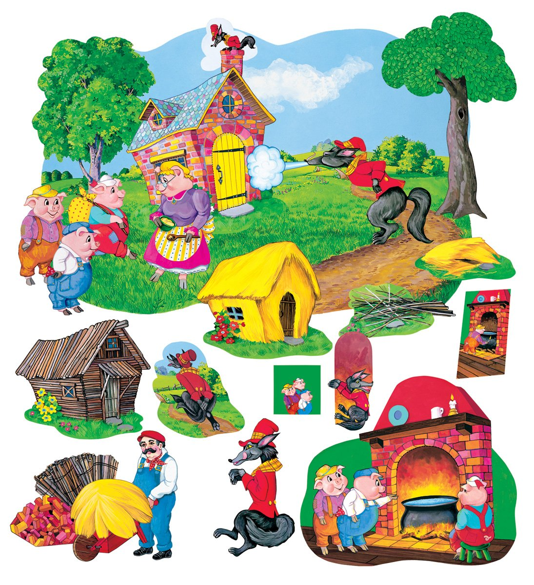 Fairy Tale Combo Set - Pre-Cut Flannelboard Figures