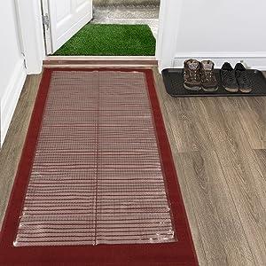 Silk Road Concepts SR-CCP101-26X6 Clear Runner Rug Carpet Protector, 26X6,