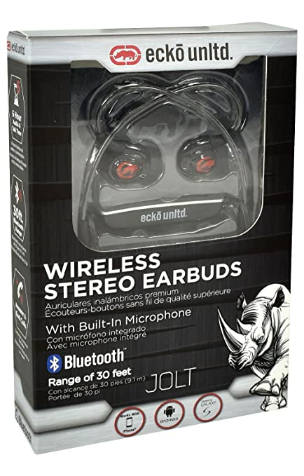 Ecko Unltd.- Jolt Bluetooth Wireless Earbuds Black