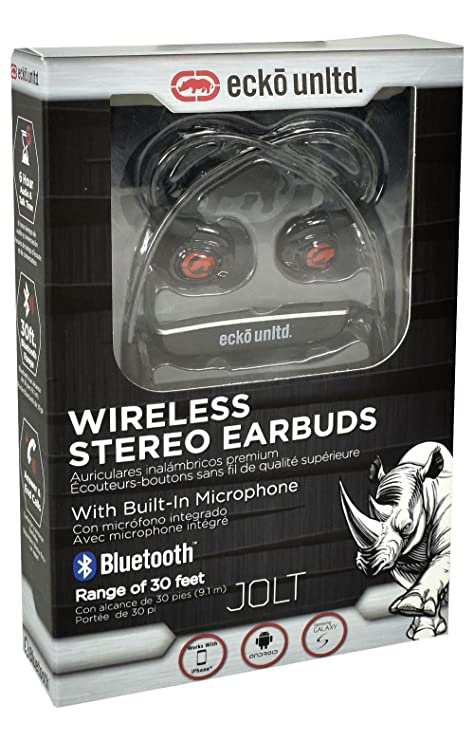 Ecko Unltd. Jolt Bluetooth Wireless Earbuds Black