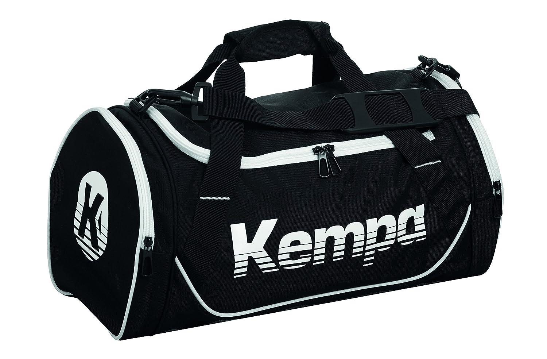 Kempa Sports Bag Bolso de Gimnasio, 45 cm, 30 litros, Negro/Blanco 200489602