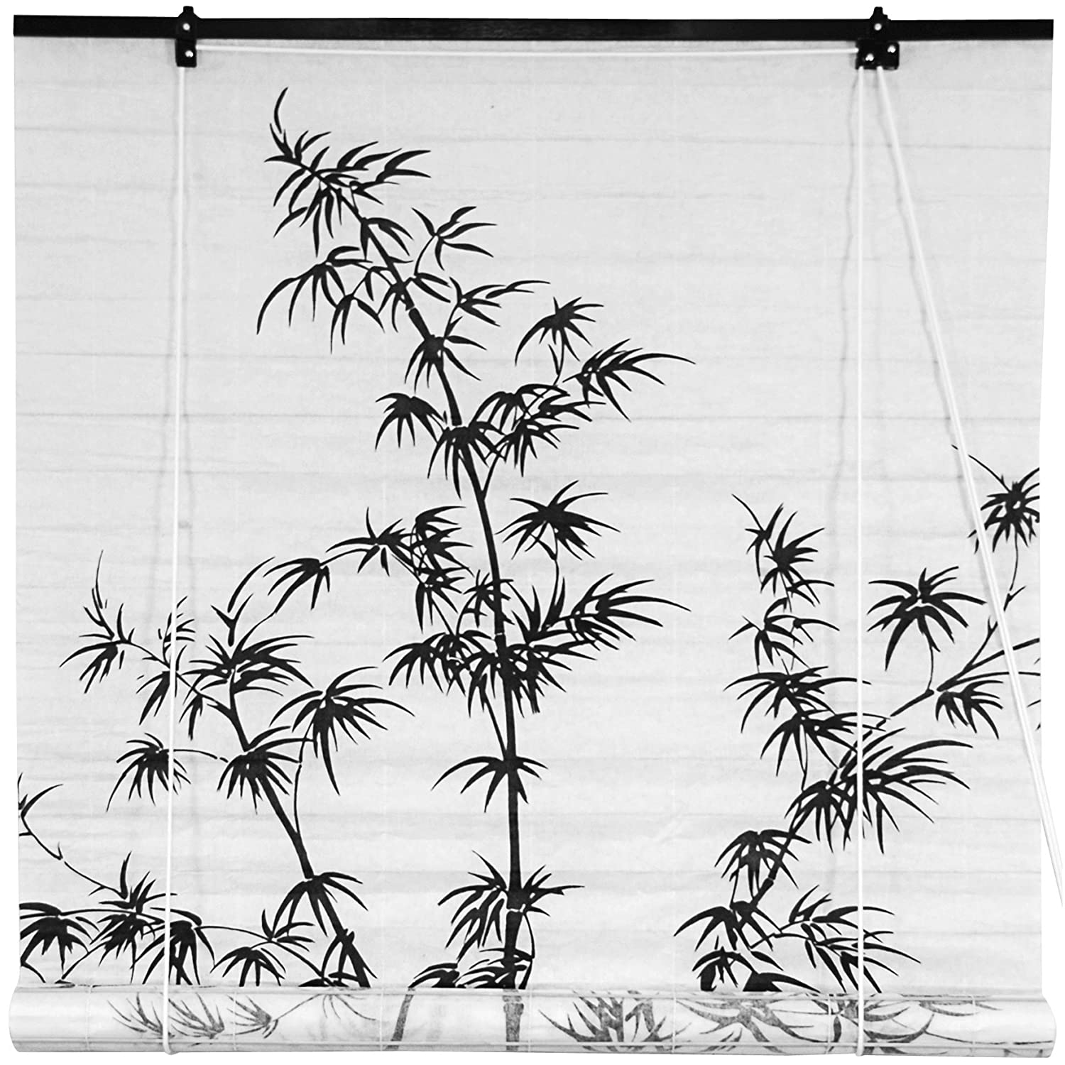 Oriental Furniture Bamboo Tree Shoji Window Blinds 48-Inch Wide WT-BAMTREE-W48