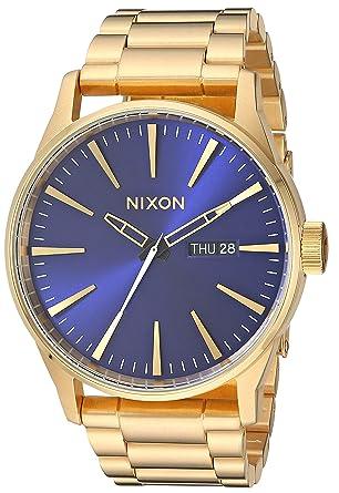 4693a9e8385 Nixon Sentry SS Gold Blue Sunray Classic Men s Watch (42mm. Blue Sunray