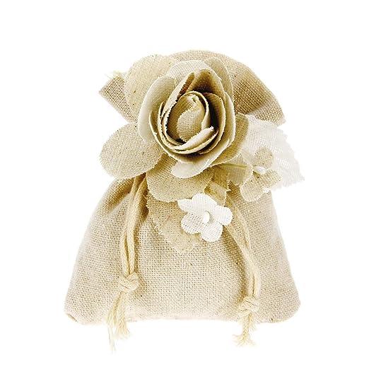 Alice s Festivos bombonera, hazlo tú Mismo bolsita de Algodón Completo de Flores Paquete de 20 Unidades: Amazon.es: Hogar