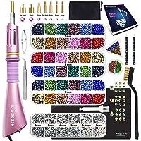 Hotfix Applicator Tool, DIY Hot Fix Rhinestone Setter, Hot Fixed Kit, 5679 Pcs, AB, Clear, 34/30/20/16/10SS, 12 Colors…