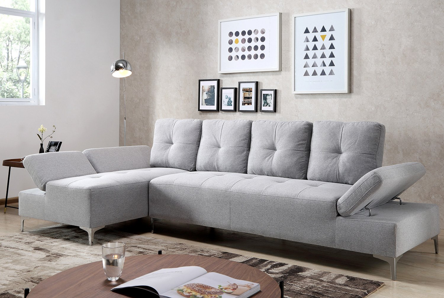 Amazon.com: Harper Bright Design Sectional Sofa Set Living ...