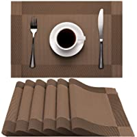 Heat-Resistant Non-Slip Placemat Washable Easy to Clean Eco-friendly PVC Placemats for Home, Restaurant, Kitchen, Hotel…