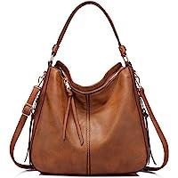 Synthetic Leather Handbags for Women Shoulder bag Cross Body Bag Designer Handbags Large Tote Bag Hobos Bag with tassel Dark Brown