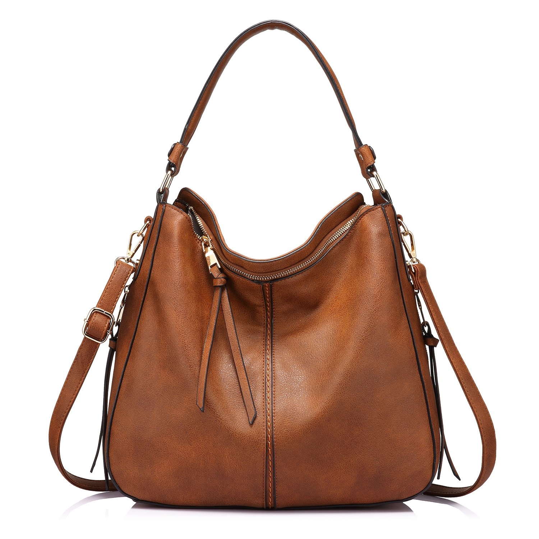 Realer Women's PU Leather New Vintage Handbag Big Tote Bags Female Crossbody Bags 3 Sets RHNWB08871800-FBA