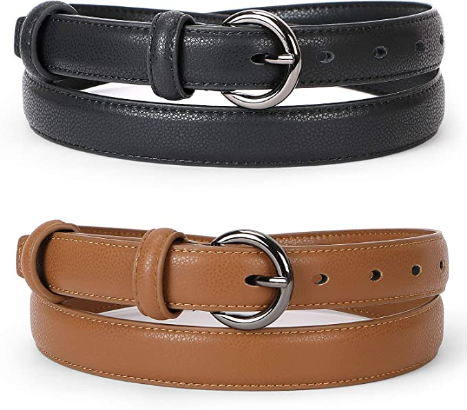 Worglo Women CD Buckle Belt Leather Belt Womens Retro Belt PU Leather Belts Ladies Wide Waist Belts Female Gift
