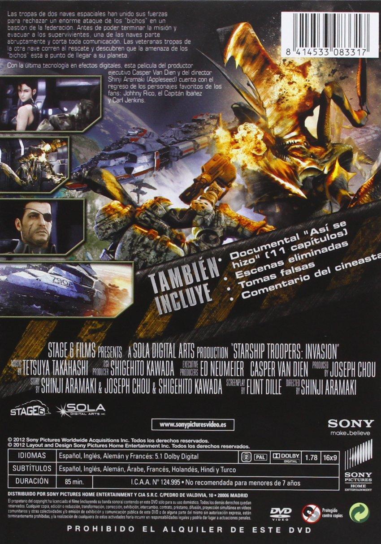 Starship Troopers: Invasion [DVD]: Amazon.es: VV.AA., Shinji ...